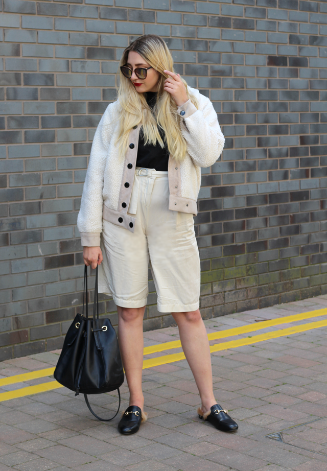 fur mules fashion blogger