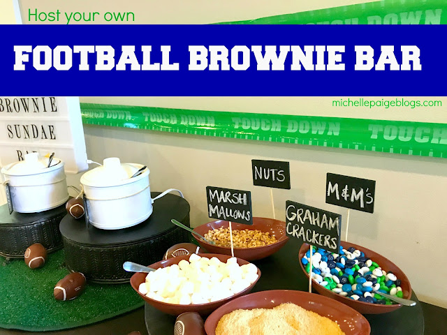 Make your own Brownie Dessert Bar.