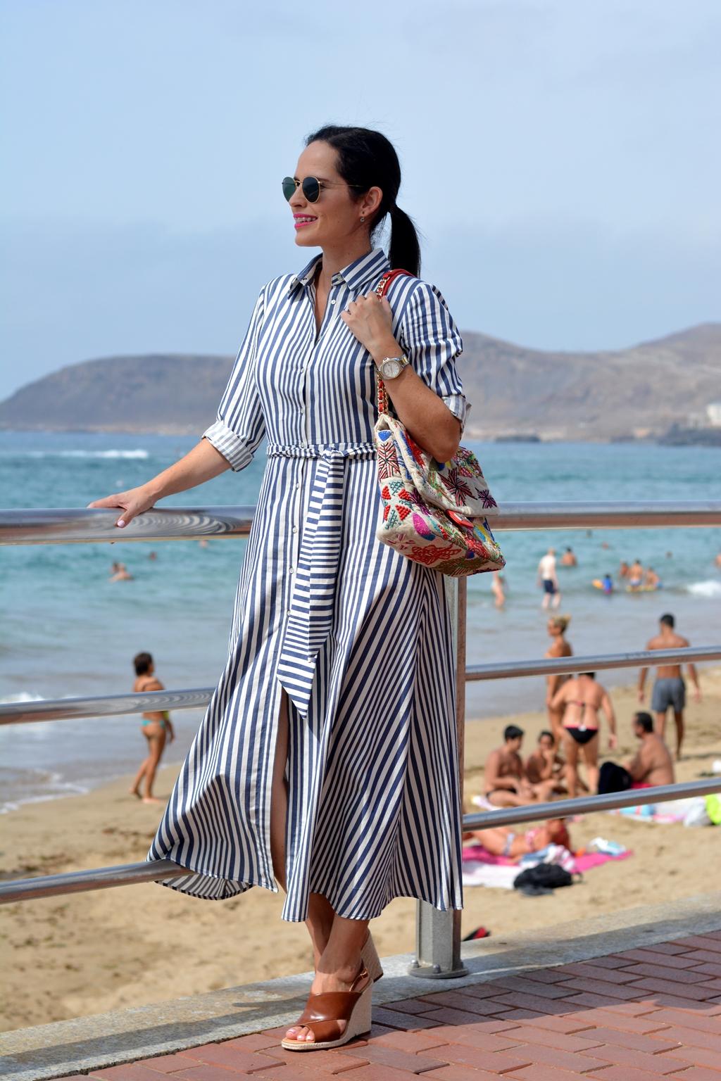 zara-striped-long-dress-outfit-streetstyle