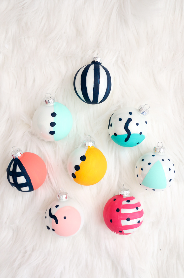 Paint It – Memphis Design Ornaments
