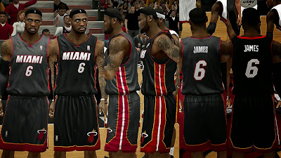 NBA 2K14 Miami Heat Jersey Pack Mod