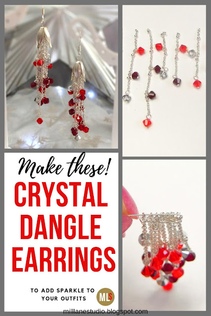 Crystal Dangle Earrings project sheet