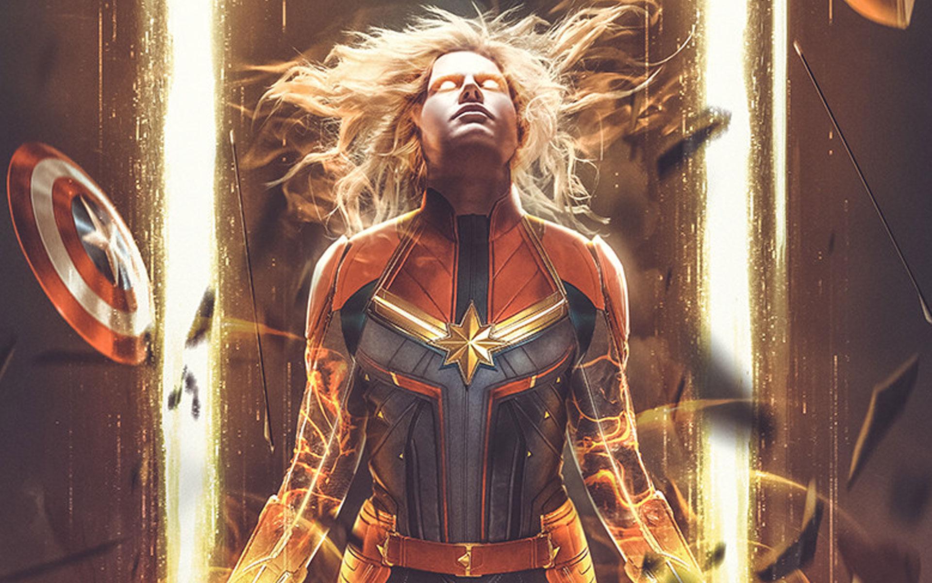 Captain Marvel Fan Art Xfxwallpapers Free Hd Wallpapers