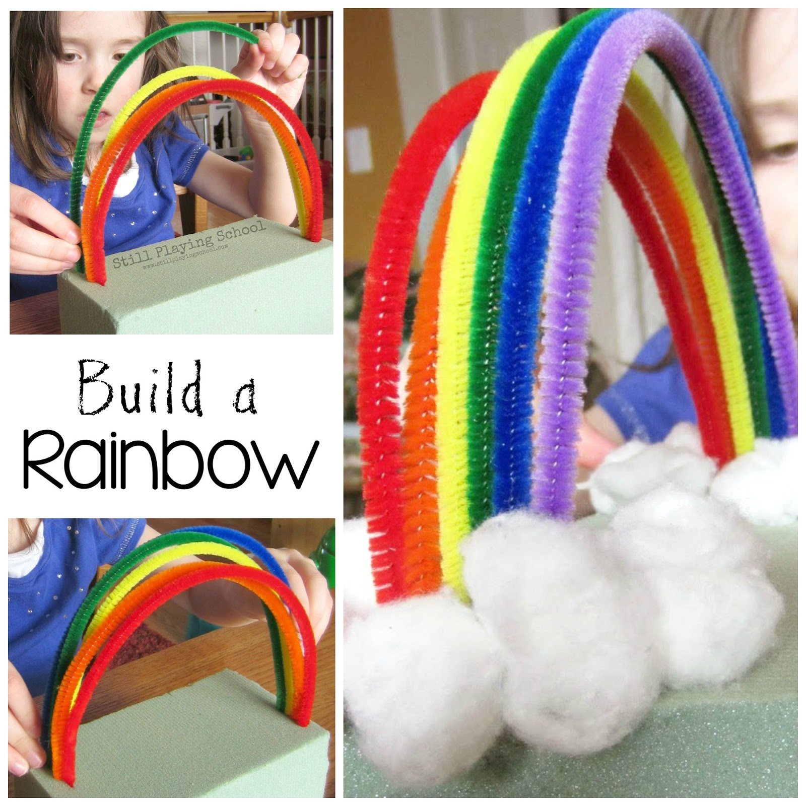 sc 1 st  Still Playing School & Pipe Cleaner Rainbow | Still Playing School