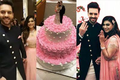 Sanjay-Poonam-engagement-cake