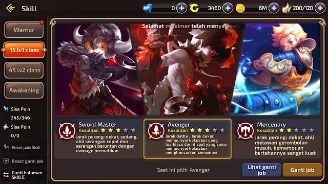 Tips Pemula - Bagaimana Cara Mengganti Job Ke Dark Avenger Dragon Nest Mobile