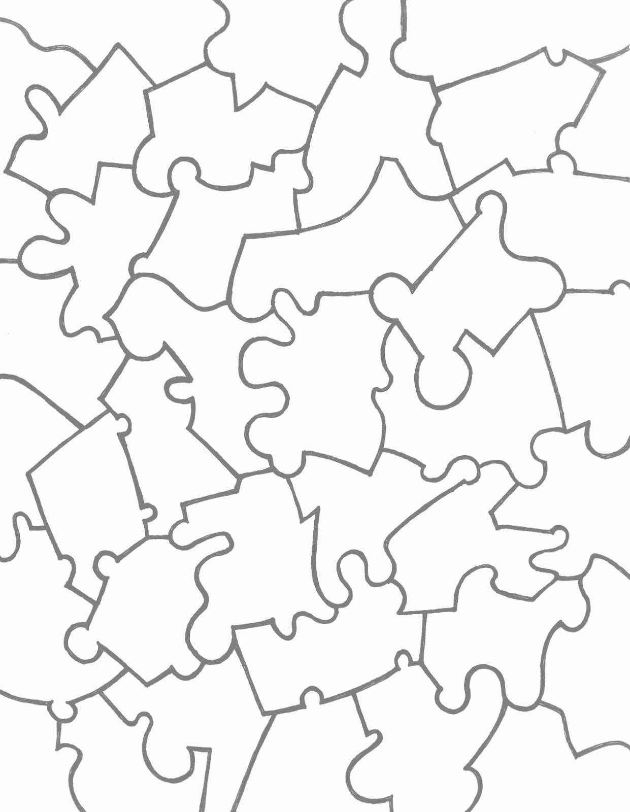 Paper jigsaw puzzle templates learn to coloring for Jigsaw puzzle template for word