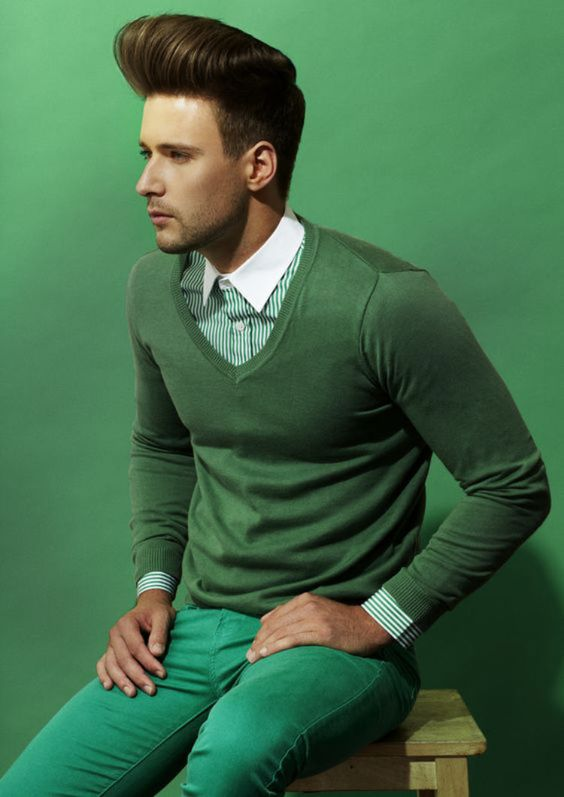 O Verde Arcadia é uma das Tendências de Cores para o Verão 2018 na Moda Masculina.