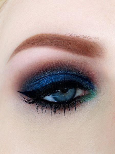 Stunning Midnight Blue Smokey Eyes Omg Love Beauty