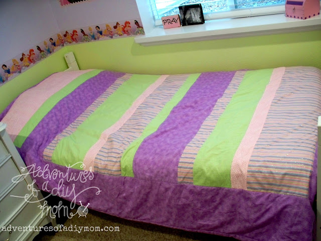 How to Make a Quick and Easy Striped Quilt Tutorial