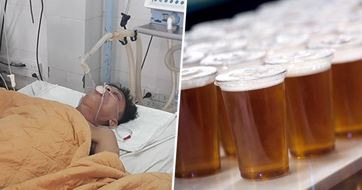 beer,  ICU, poisoning
