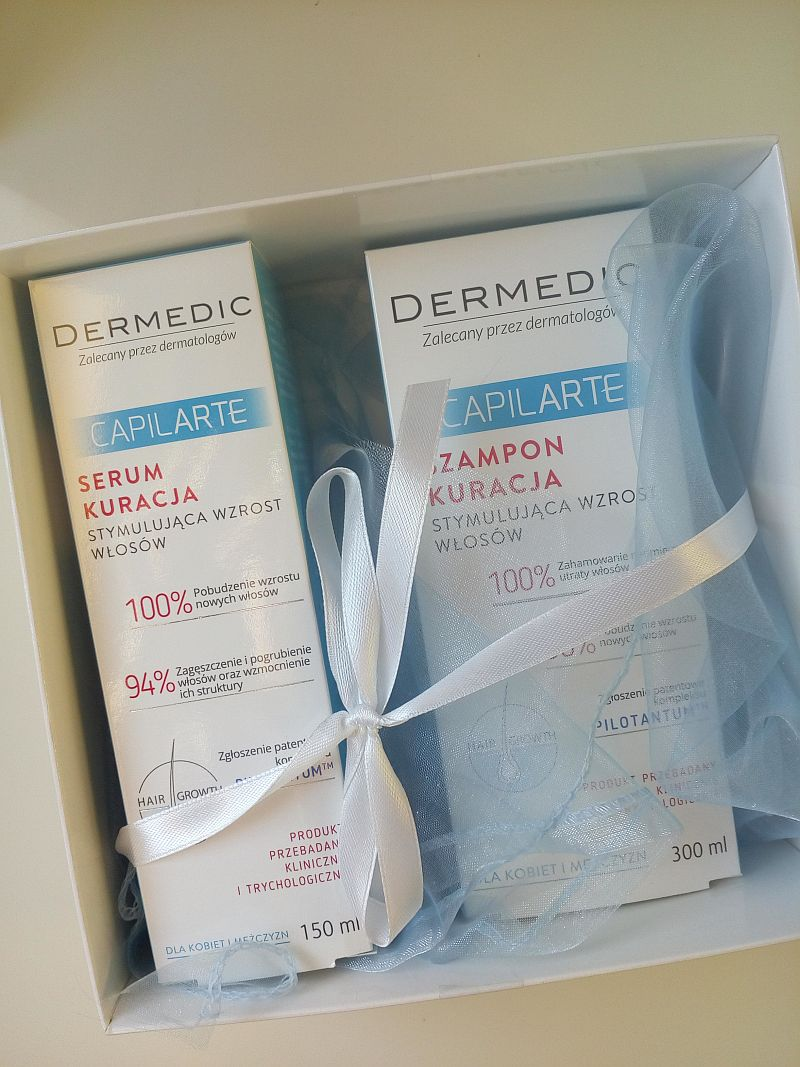 Dermedic Capilarte - zestaw stymulujący wzrost włosów.