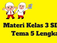 Materi Kelas 3 SD/MI Tema 5 Lengkap