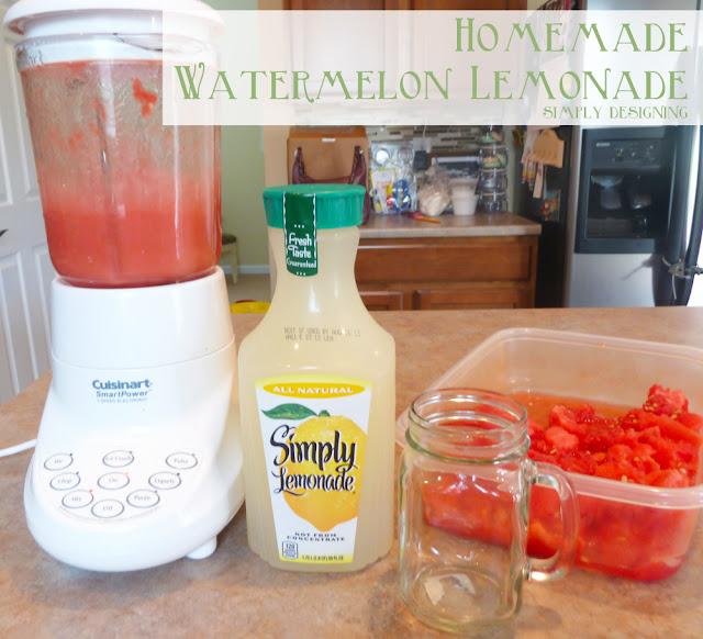Homemade Watermelon Lemonade - fresh homemade watermelon lemonade! So delicious and so refreshing!  Perfect drink for summer!  #recipe #drinks #lemonade #watermelon