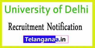 University of Delhi Recruitment Notification 2017