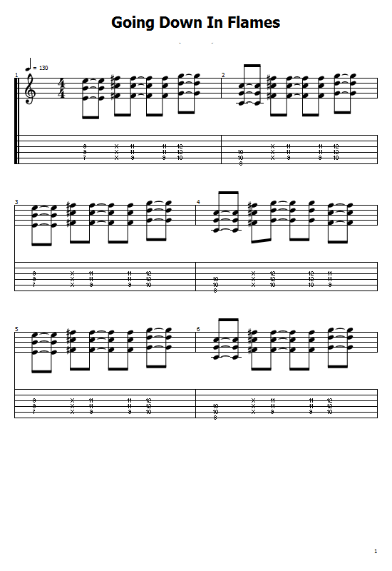 Going Down In Flames Tabs 3 Doors Down. How To Play Going Down In Flames 3 Doors Down Song On Guitar Tabs & Sheet Online