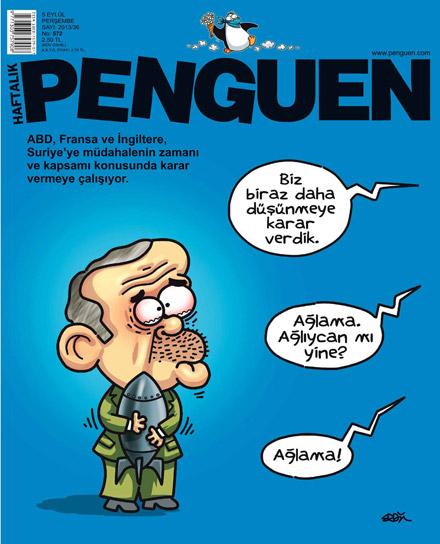 penguen tayyip erdoğan karikatür