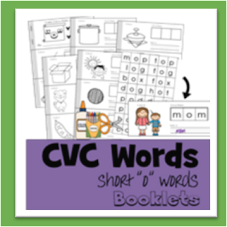 cvc words cut and paste o books