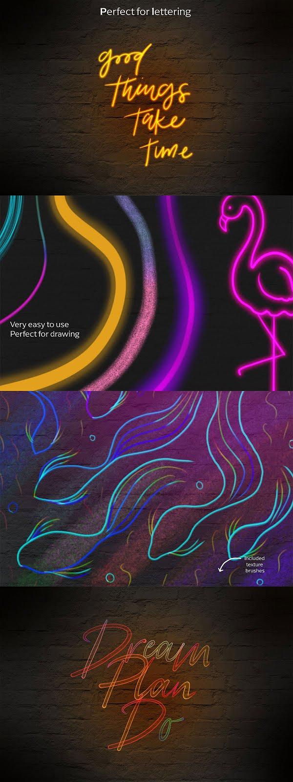 Neon brush set for Procreate 5167471 Free