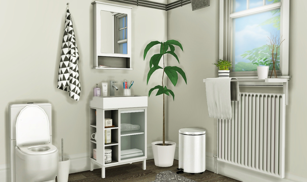 My Sims 4 Blog: IKEA LILLÅNGEN Bathroom Set By MXIMS
