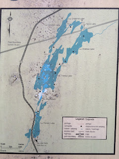 Fenton Lake Canoe Route Map Lake Superior Provincial Park