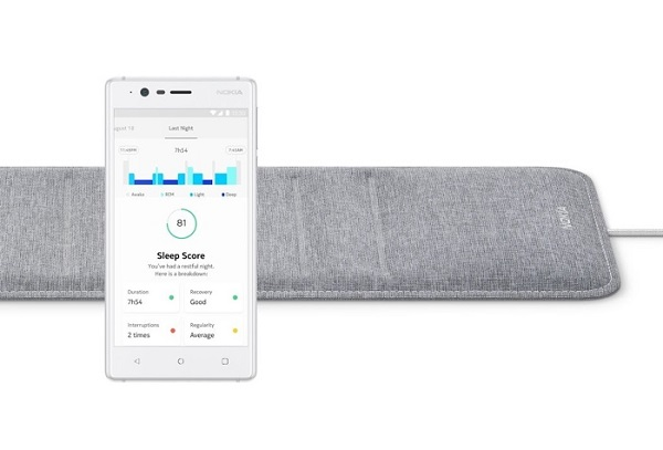 CES 2018: NOKIA Sleep sensor announced, Offers sleep cycles analysis (deep, light and REM), heart rate tracking and snore detection