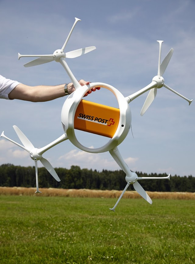 Drone delivery tests by Swiss Post