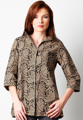 15+ Ide Baju Atasan Batik Desain Cantik Model Terbaru
