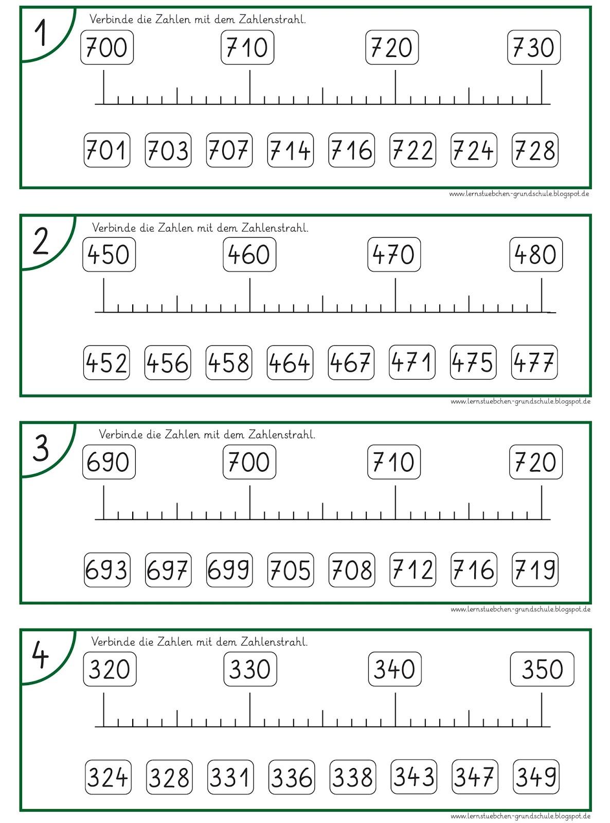 Lernstübchen Zahlen Am Zahlenstrahl 3