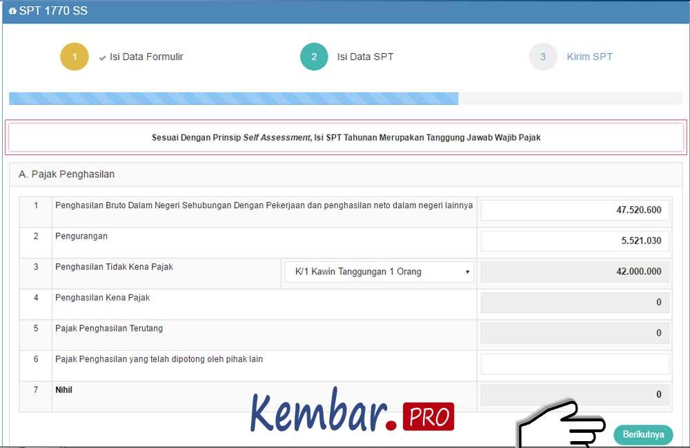 Cara Lapor Pajak Online SPT Tahunan WP Pribadi 2020 - Kembar.pro