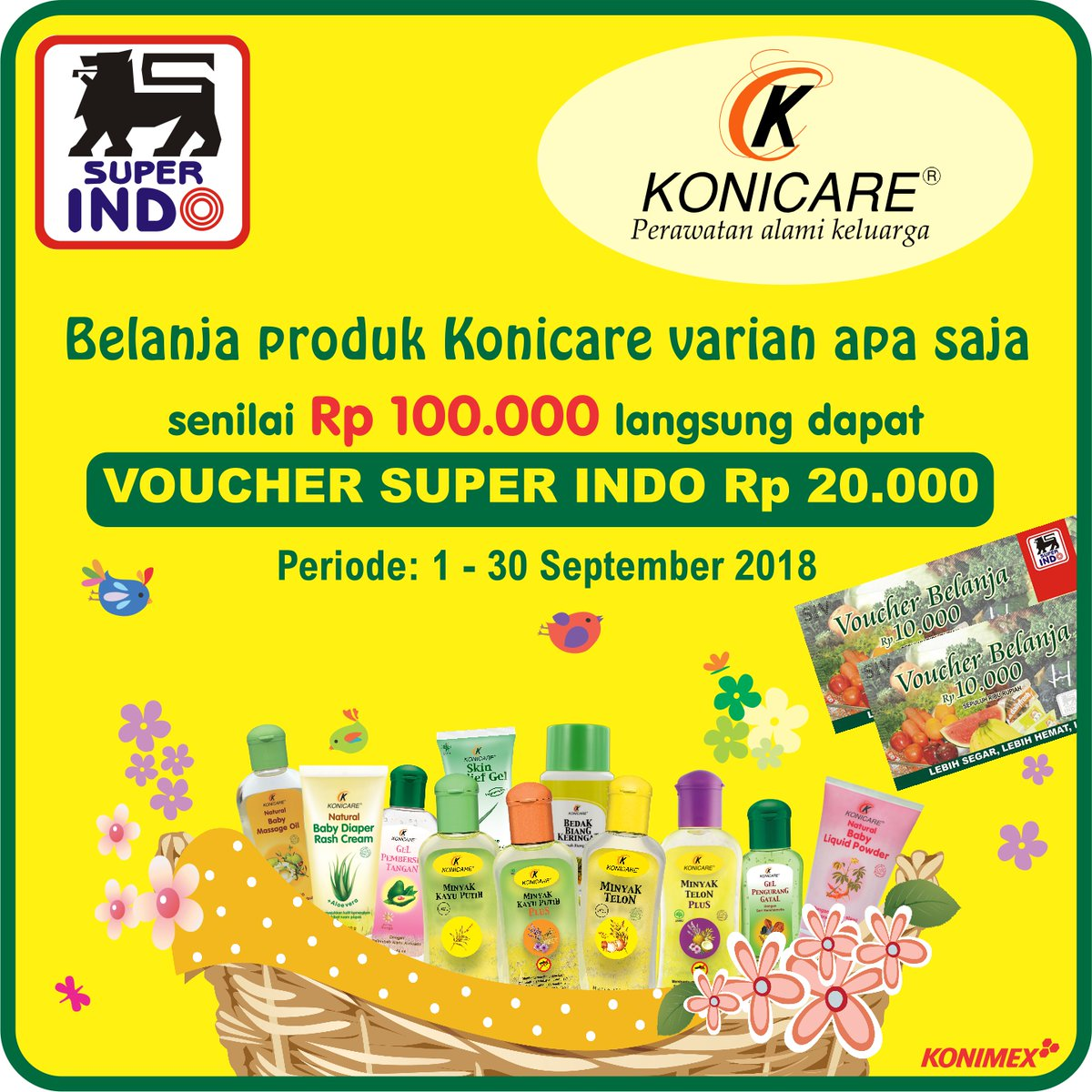 Voucher Superindo Rp 1 000 Daftar Harga Terbaru Dan Terlengkap Giant 500 Source Promo Beli Produk Konicare 100 Ribu