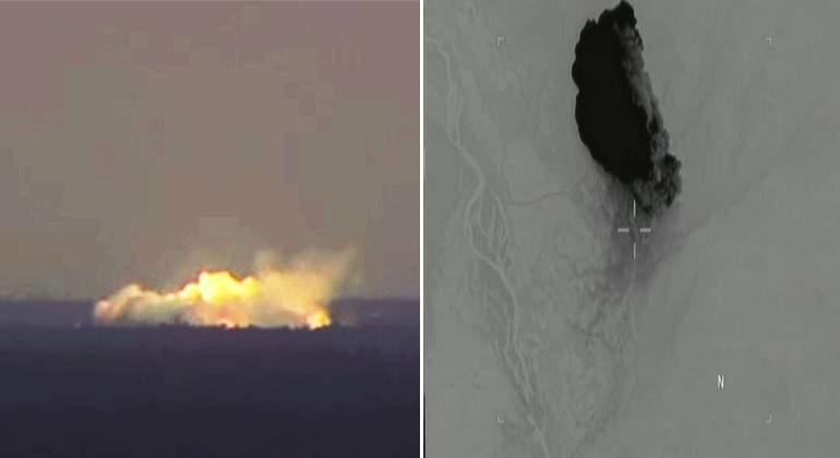 """VIDEO: Así impactó la """"madre de todas las bombas"""" en Afganistán"""