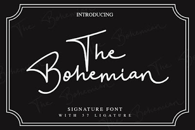 The Bohemian a Signature Font