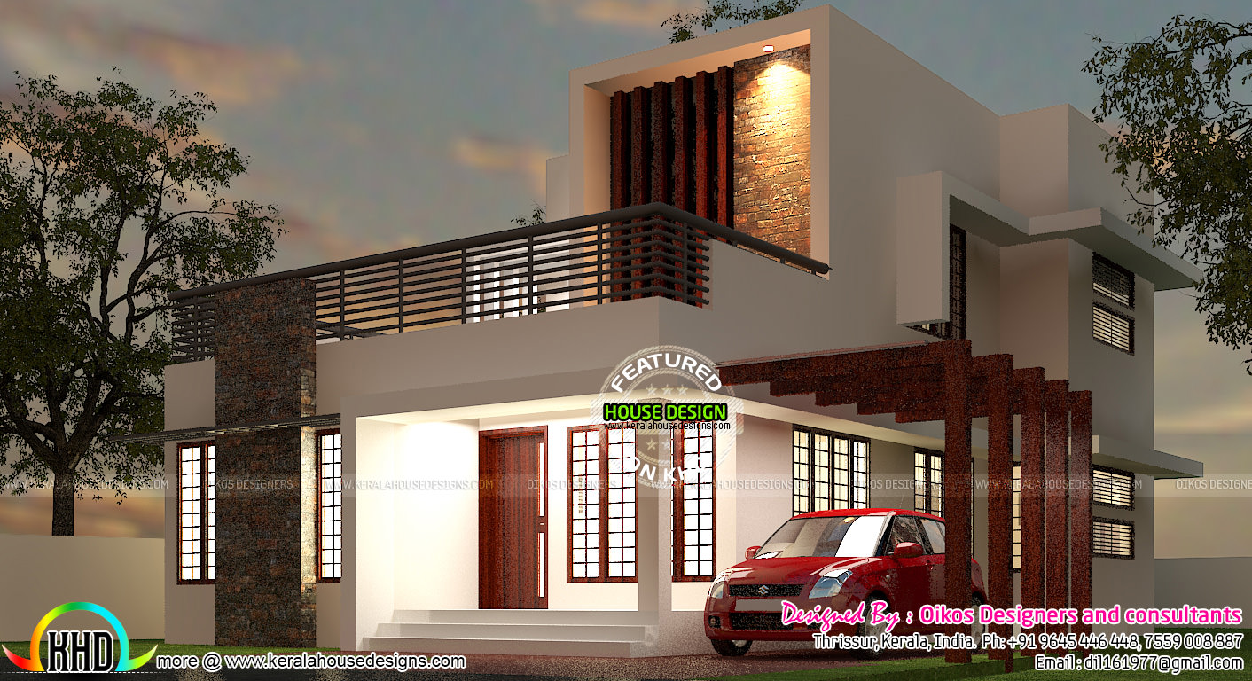 Small Plot Beautiful 3 Bedroom Modern Home Design in 1629 ...
