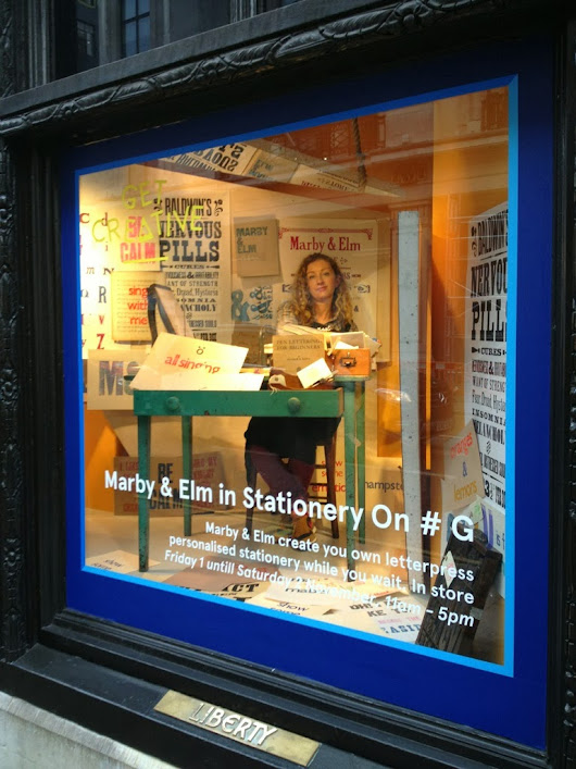 Special pop-up bespoke while-u-wait letterpress event with the brilliant Marby and Elm