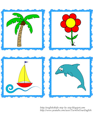 summer flashcards for teaching English
