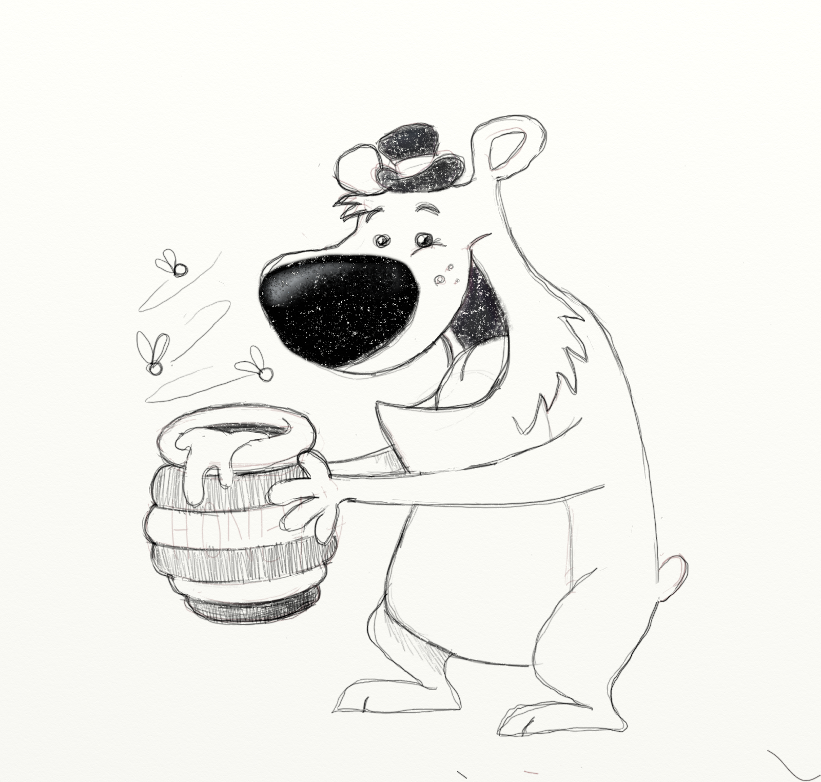 arrrggghhh another blog daily quick sketch stealing honey