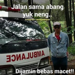 gambar dp bbm macet naik ambulance saja