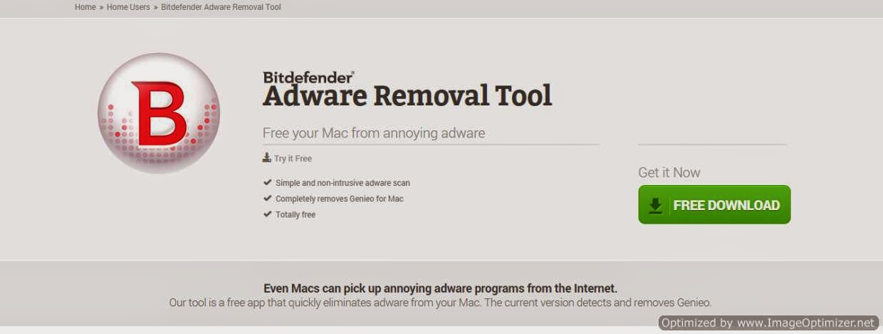 Bitdifender Adware removal for Mac