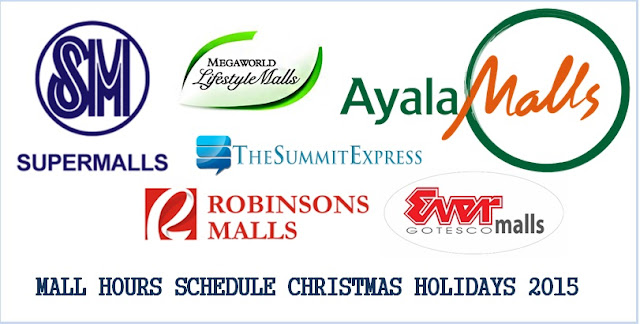 Mall Hours Schedule Christmas Holidays 2015, New Year released