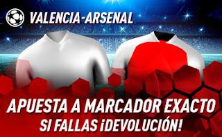 sportium promo Europa League Valencia vs Arsenal 9 mayo