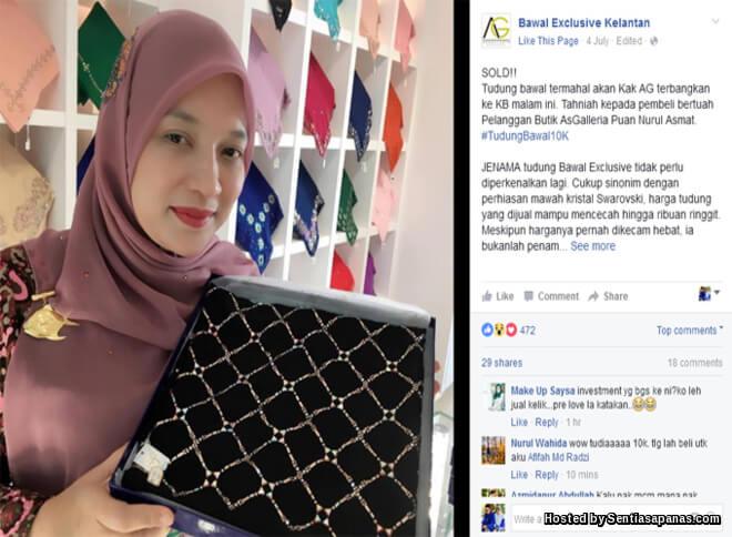 Tudung Bawal Exclusive RM21600