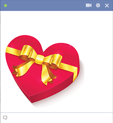 Heart gift for Facebook