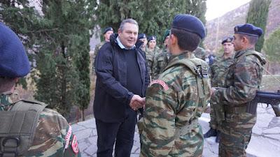 Στα ελληνοαλβανικά σύνορα ο υπουργός Εθνικής Άμυνας Πάνος Καμμένος