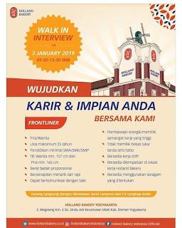 Info Lowongan Kerja Holland Bakery Frontliner Yogyakarta
