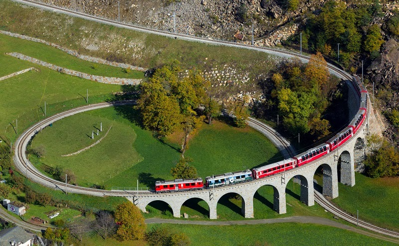 Bernina Express, Switzeland to Italy - Top 10 Train Routes in Europe