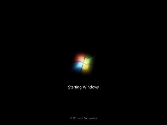 Windows 7 startup phases