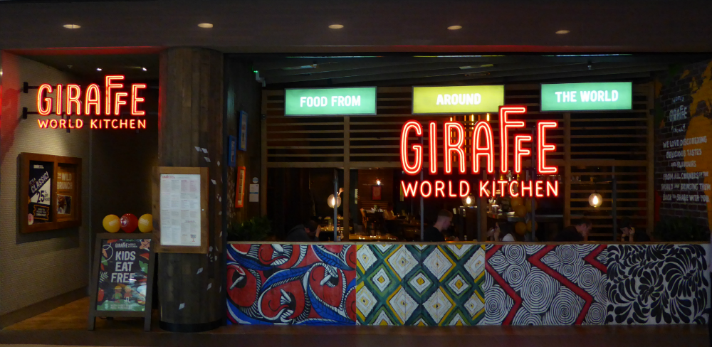 Giraffe World Kitchen, Aberdeen (Exterior)