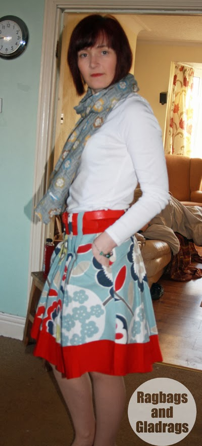 Stepalica Patterns: Zlata skirt - testing the pattern, Claire