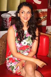 aditi rao hyadari at cafe coffee day glamour  images